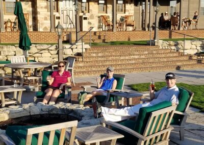 Erin Hills Golf Course Hole 18 Patio Drinks