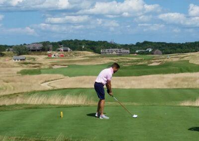 Erin Hills Golf Course Hole 18 Tee Shot