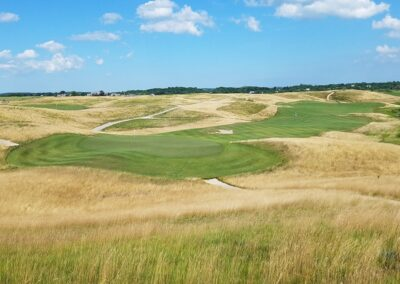 Erin Hills Golf Course Hole 3 Green View