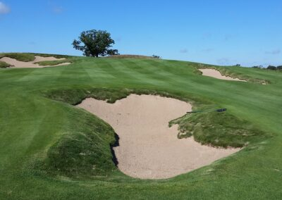 Erin Hills Golf Course Hole 7 Bunkers