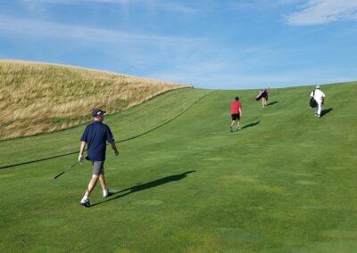 Erin Hills Golf Course Hole 8 Fairway Incline
