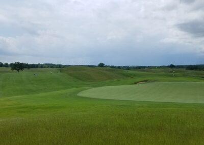 Erin Hills Golf Course Hole 8 Green View