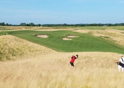 Erin Hills Golf Course Hole 8 Hay Approach