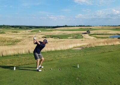 Erin Hills Golf Course Hole 9 Tee Rick