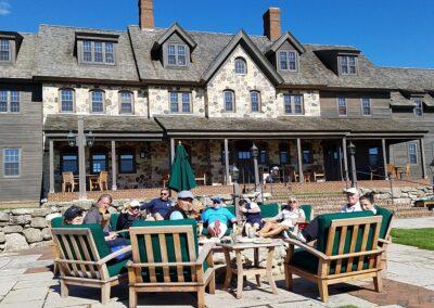Erin Hills Golf Course Lodge Patio Drinks