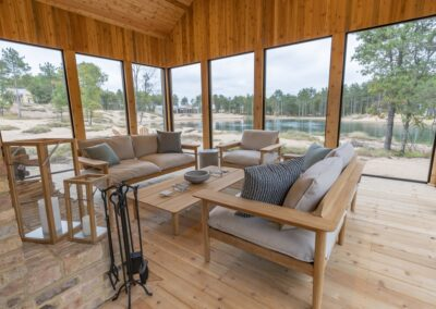 Sand Valley Glacial Lake Cottage Patio