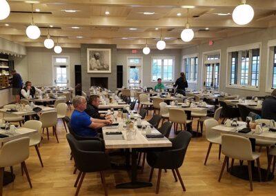 Sand Valley Golf Resort Clubhouse Aldo's Restaurant Tables