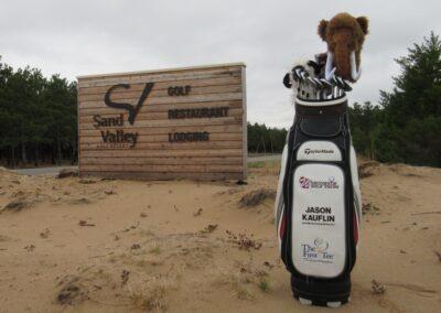 Sand Valley Golf Resort Entrance With Bag