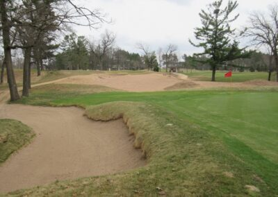 Stevents Point Country Club Hole 17 Greenside Bunker