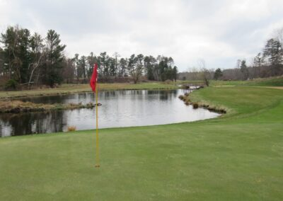 Stevents Point Country Club Hole 9 Par 3 Green View