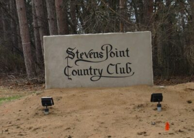 Stevents Point Country Club New Sign