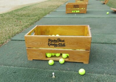 Stevents Point Country Club Range Ball Crates