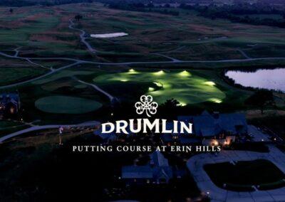 Erin Hills Golf Course Drumlin Nightime