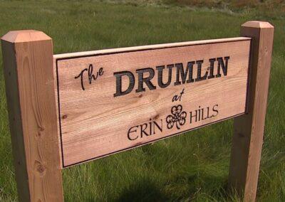 Erin Hills Golf Course Drumlin Sign