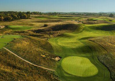 Erin Hills Golf Course Hole 12 Green Aerial GR