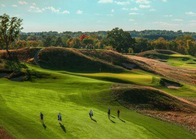 Erin Hills Golf Course Hole 14 Approach STOCK GR