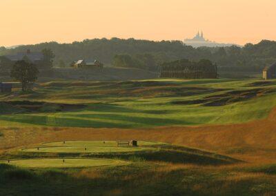 Erin Hills Golf Course Hole 18 Dusk GR