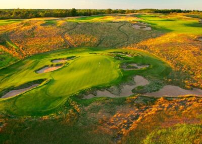 Erin Hills Golf Course Hole 9 Aerial STOCK GR