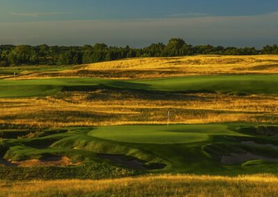 Erin Hills Golf Course Holes 9 and 18 STOCK GR